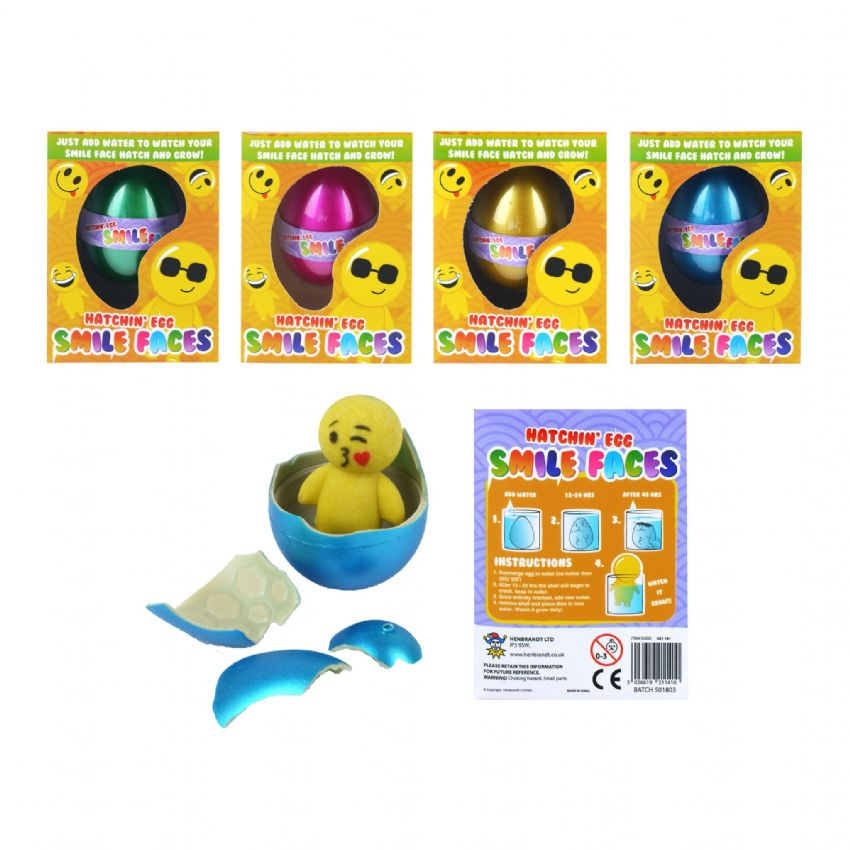 Smile Faces Emoticon Man - Hatching & Growing Egg In Assorted Colours